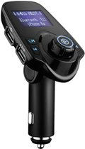 MMOBIEL Bluetooth FM Transmitter, 120 ° Rotatie Auto Radio Adapter Carkit 5 in 1 met 4 Music Play Modes / Hands-free Bellen / TF Kaart / USB Auto Lader / USB Flash Drive / AUX Input / Output 1.44 inch LCD Display