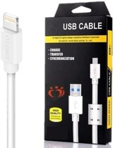 Olesit UNS-K107 USB Lightning Kabel 1 Meter voor o.a  iPhone X/XS /XR / XS MAX/ iPhone 8 / 8 Plus / iPhone SE / 5S / iPhone 6S / 6 Plus / 7 / 7 Plus / iPad Pro 10.5 / 9.7 / iPad 2017/2018 - Wit