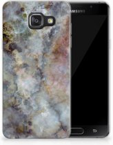 Samsung Galaxy A3 2016 TPU Hoesje Design Marmer Grijs