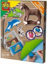SES ECO Natuurklei paard, dolfijn en konijn