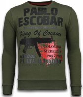 Local Fanatic Pablo Escobar - Rhinestone Sweater - Groen - Maten: S
