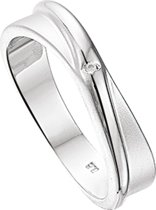 The Jewelry Collection Ring Diamant 0.007ct H Si - Zilver