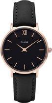 CLUSE CL30022 Minuit - Horloge - Rose Gold Black Black - Ø 33 mm