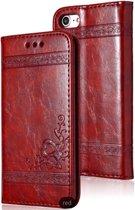 Luxe lederen bookcover / flip case - iPhone 7 / 8 - rood