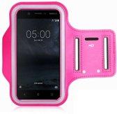Nokia 5 Sportarmband Hoesje Hardloopband Roze