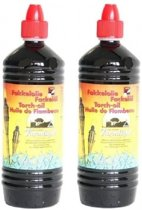 2x Farmlight fakkelolie - 1 liter + gratis aansteker