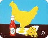 Kamagurka placemat Chicken K'tchup