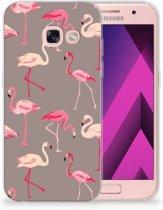 Samsung Galaxy A3 2017 TPU siliconen Hoesje Flamingo