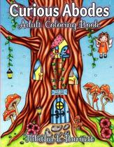 Curious Abodes Adult Coloring Book: 27 Unique Beautiful Fairy Houses and Doors to color