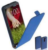 TCC Luxe Leder hoesje LG G2 Flip Case/Cover - Blauw