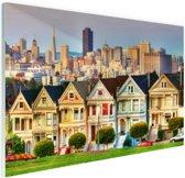Architectuur van San Fransisco Glas 60x40 cm - Foto print op Glas (Plexiglas wanddecoratie)