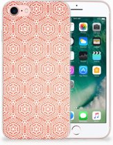 Apple iPhone 7 | 8 Uniek TPU Hoesje Pattern Orange