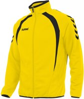 hummel Team Top Full Zip Junior Sportjas - Geel - Maat 128