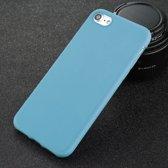 iPhone 7 6 6 s 8 X Plus 5 5 s SE XR XS Effen Hoesje Case Cover Soft TPU - Product Kleur: Blauw / Product Materiaal: iPhone 8