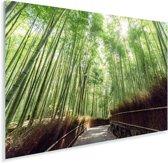 Bamboebosje in Arashiyama Japan Plexiglas 120x80 cm - Foto print op Glas (Plexiglas wanddecoratie)