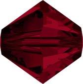 Swarovski 5328 Xilion Facet kraal 4mm Crystal Siam