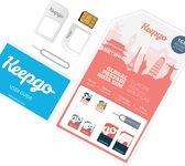 Keepgo 3-in-1 wereld simkaart inclusief 1GB (onbeperkt houdbaar)