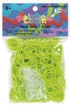 Rainbow Loom Elastiekjes - Neon Groen Bandjes - 300 stuks