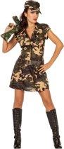 Leger & Oorlog Kostuum | Jungle Commando Colombia | Vrouw | Maat 38 | Carnaval kostuum | Verkleedkleding