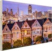FotoCadeau.nl - Huizen San Francisco Hout 30x20 cm - Foto print op Hout (Wanddecoratie)