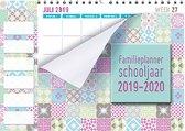 Family planner 2019-2020 - 1 juli 2019 t/m 1 augustus 2020 - 6 Personen - Pastel - 34 x 24,5 cm