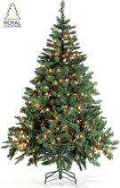 Kunstkerstboom Dakota PVC - Lengte 210 cm - met 350 geintegreerd warm LED lampjes - Lengte 210 cm - 795 Takken