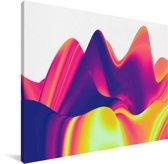 Kleurrijke abstracte achtergrond Canvas 160x120 cm - Foto print op Canvas schilderij (Wanddecoratie woonkamer / slaapkamer) XXL / Groot formaat!