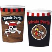 Piraten Bekers Karton 200ml 8 stuks