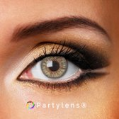 Kleurlenzen 'Grey Passion' jaarlenzen inclusief lenzendoosje - grijze contactlenzen Partylens®