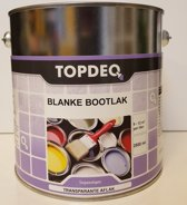 Topdeq Blanke Bootlak - Jachtlak - Hoogglans - Transparant - Blank - 2,5L