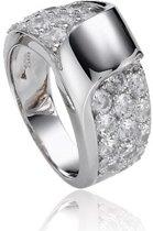 Classics&More - Zilveren ring met steen Pav' gezet met zirkonia