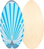 Surfboard - Skimboard - Bodyboard - Surfplank - Drijfplank - Body board - Surfer - Zwemplank - Hout Blauw/blank 104 cm