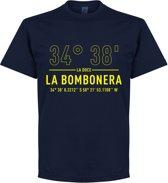Boca Juniors La Bombonera Coördinaten T-Shirt - Navy Blauw - XL