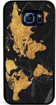 Samsung Galaxy S6 Edge hoesje - Wereldmap