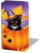 Ambiente Halloween cat papieren zakdoeken