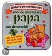 Pepermunt Blikje - Liefste papa - vader (incl. 70 gram pepermunt)