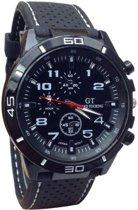 GT- horloge zwart/wit  42 mm I-deLuxe verpakking
