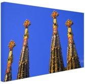 Details Sagrada Familia in Barcelona Canvas 30x20 cm - Foto print op Canvas schilderij (Wanddecoratie)