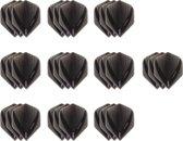 10 Sets (30 stuks) Stevige XS100 Vista - flights - Multipack - Grijs smokey