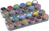 Grimas Schmink - Schminkpalet, 24 kleuren van 2,5 ml , 24x2,5ml
