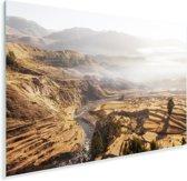 De Peruviaanse Colca Canyon met een mistige achtergrond Plexiglas 90x60 cm - Foto print op Glas (Plexiglas wanddecoratie)