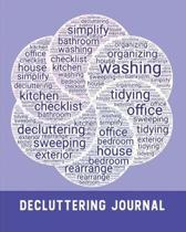 House Decluttering: A One-Year House Cleaning Planner & Workbook - WordArt Overlapping