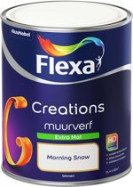Flexa Creations - Muurverf Extra Mat - Morning Snow - 1 liter
