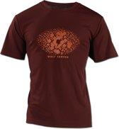 Wolf Camper Square t-shirt bordeaux