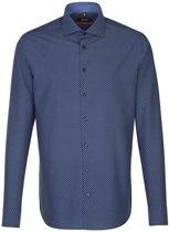 Seidensticker overhemd slim fit blauw, maat 40
