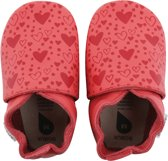 Bobux babyslofjes spiced coral heart print - maat 28