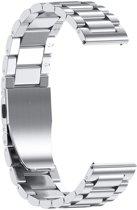 Metalen Armband Voor Samsung Galaxy Watch 46 MM Horloge Band Strap - Schakel Polsband Strap RVS - Zilver KLeurig