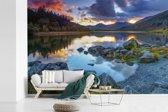 Fotobehang vinyl - Kleurrijk Nationaal park Snowdonia in Wales breedte 360 cm x hoogte 240 cm - Foto print op behang (in 7 formaten beschikbaar)