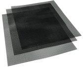 4cookz 3 stuks non-stick teflon BBQ matten 33x40cm -70~260℃ mesh