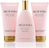 Indasec Aire De Sevilla Rose Eau De Toilette Spray 150ml Set 3 Pieces